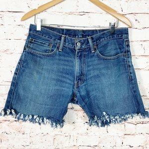Levi's Frayed Hem Boy Shorts DIY